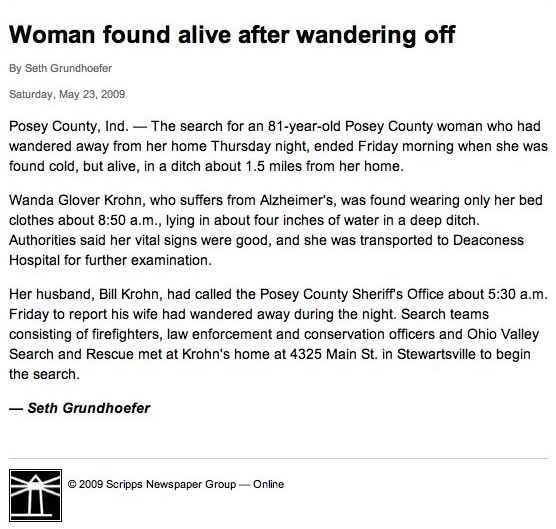woman found alive